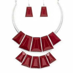 Lions, Tigress and Bears Red Necklace